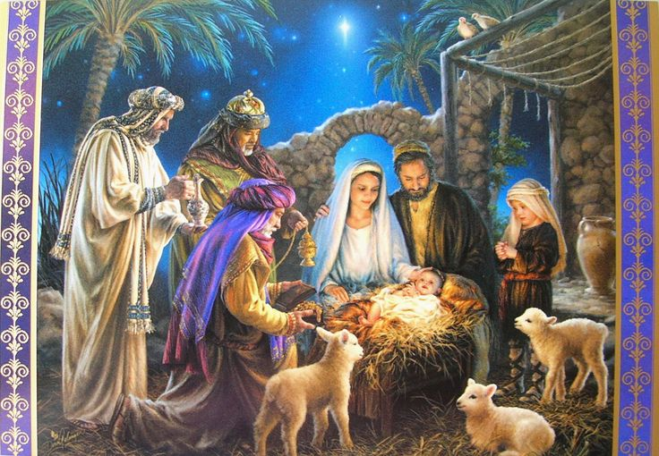 Nativity Scenes Christmas Greeting Card Xmasblor