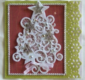 Greeting Christmas Tree Card