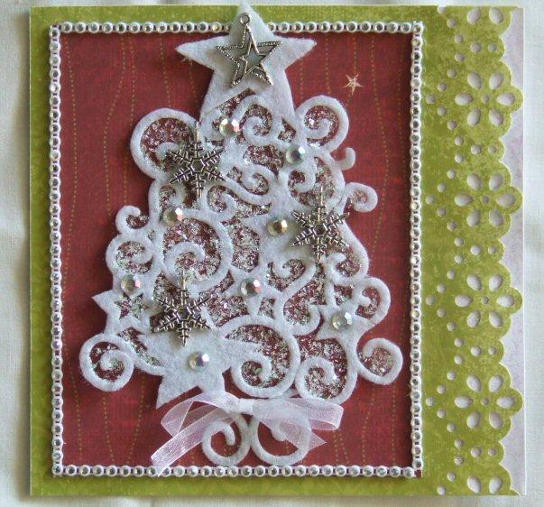 Greeting Christmas Tree Card