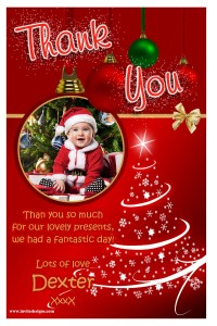 Baby Santa Thank You Card