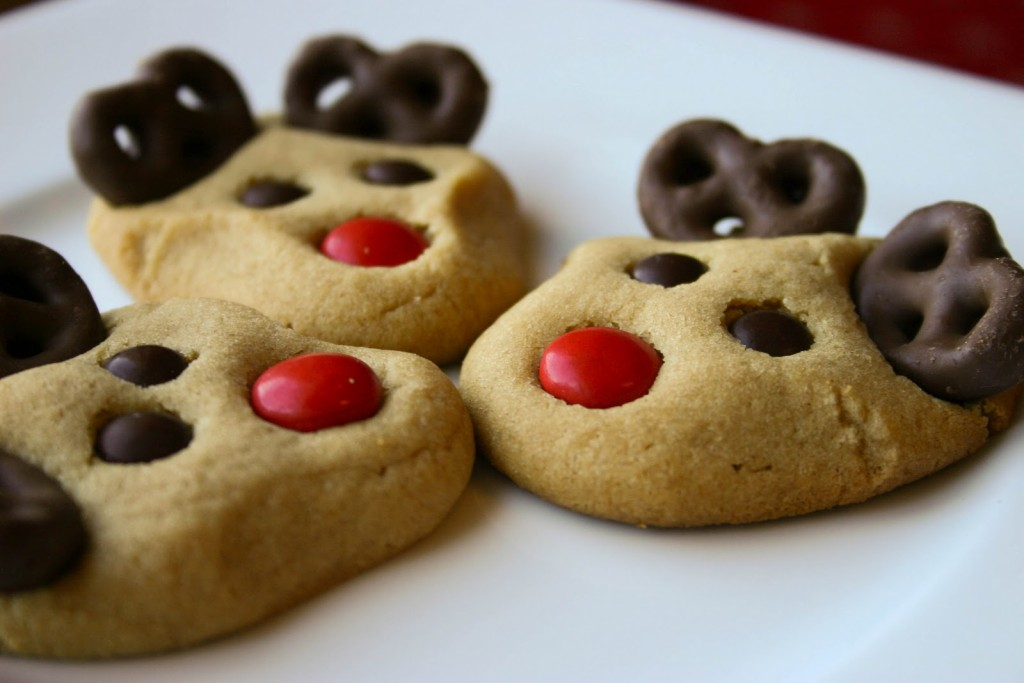 Peanut Reindeer Christmas Cookies
