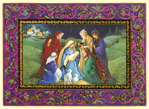 Christmas Nativity Scenes Card
