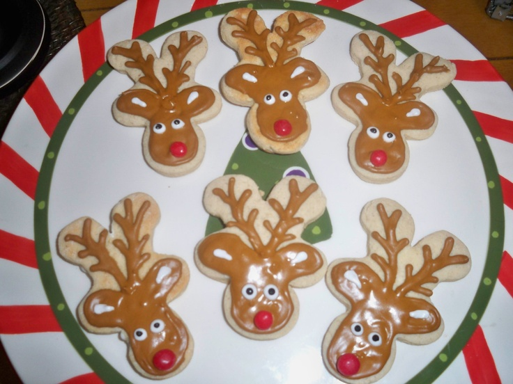 Christmas Gingerbread Reindeer Cookies
