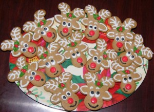 Christmas Reindeer Cookies Kids