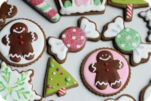 Decorated Christmas Cookie