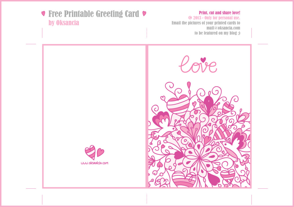 Printable Greeting Card