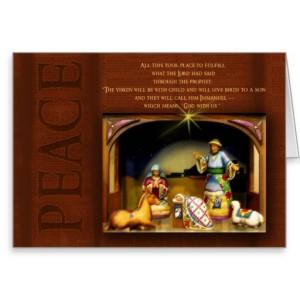 Nativity Scenes Christmas Card