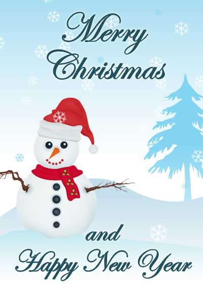 Christmas Card and New Year