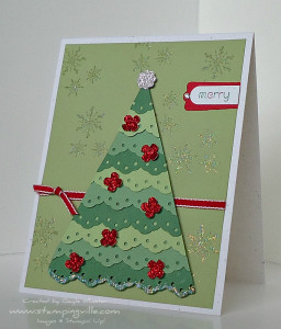 Cute Christmas Card Tree