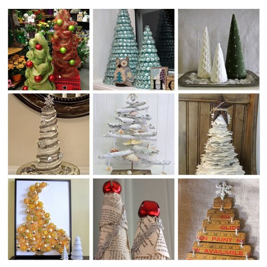 DIY Recycled Christmas Tree