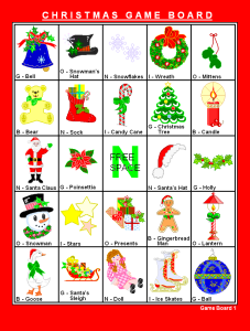 Printable Bingo Christmas Game
