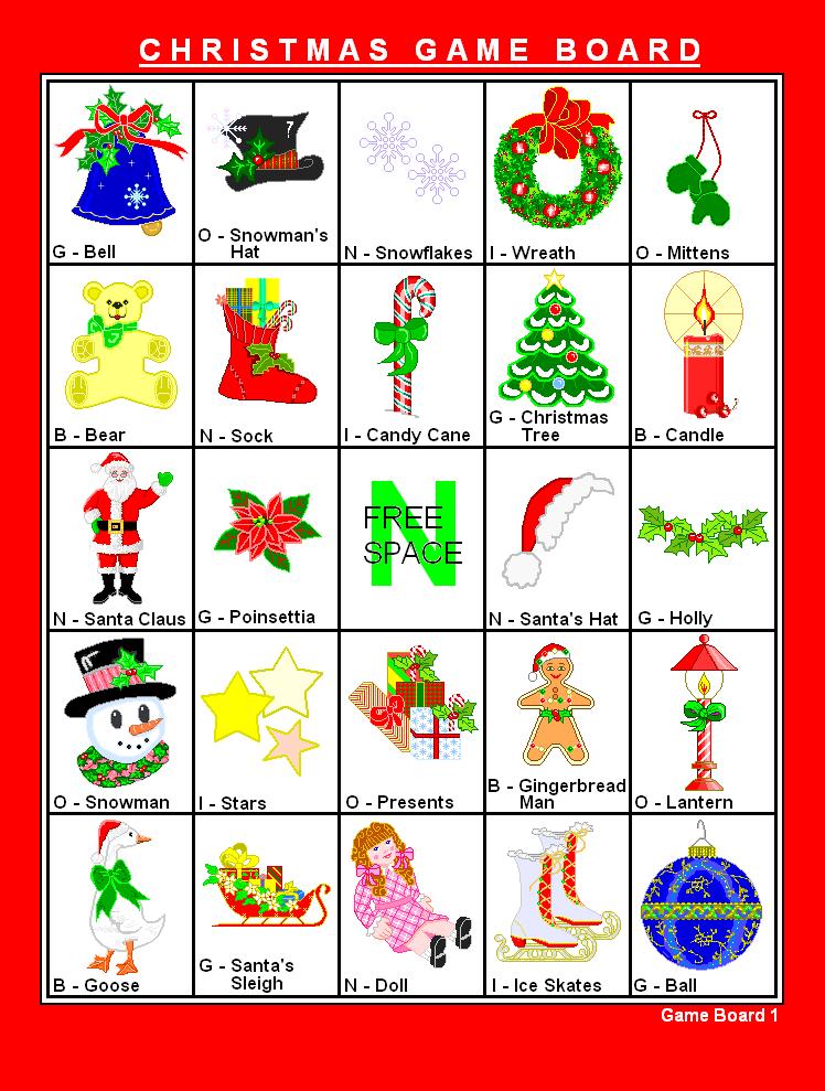 Printable Bingo Christmas Game