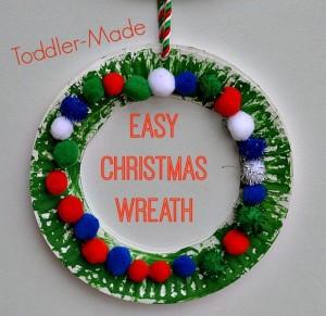 Easy Christmas Wreath Craft