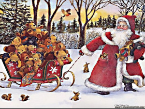 Christmas New Year Santa Claus