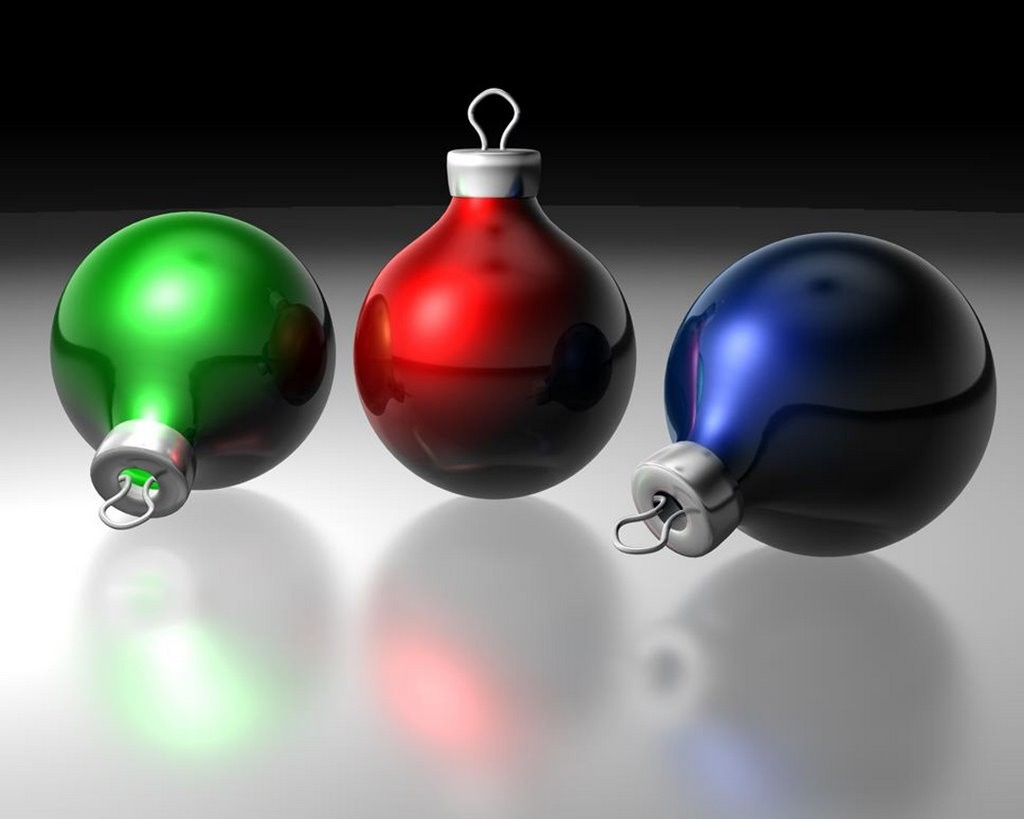 Three Color Christmas ornaments