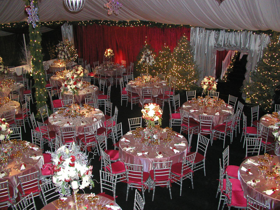 Christmas Party Table Decoration