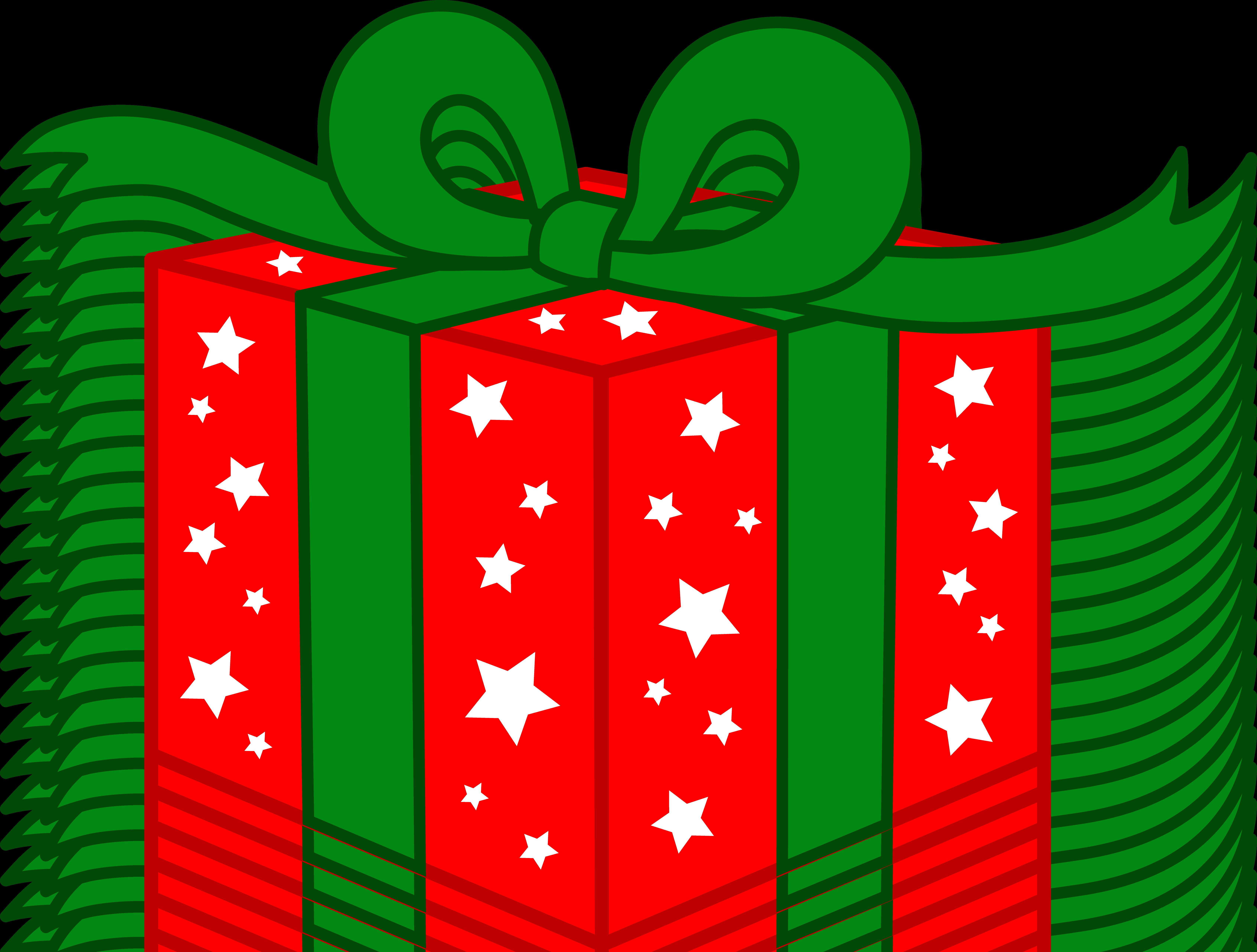 Christmas present clip art xmasblor for Decoration on a present