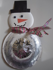 Snowman Christmas Craft