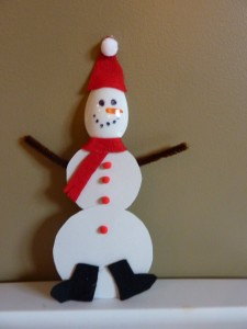 Snowman Christmas Ornament Craft