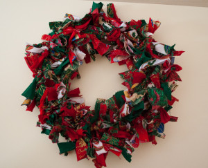 Rag Christmas Wreath