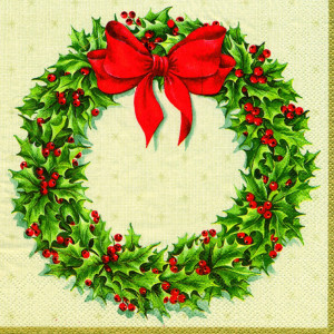 Christmas Holly Wreath