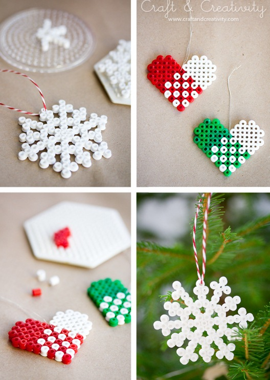 DIY Bead Christmas Ornaments