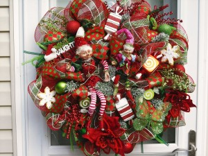 Christmas Mesh Wreath Ideas