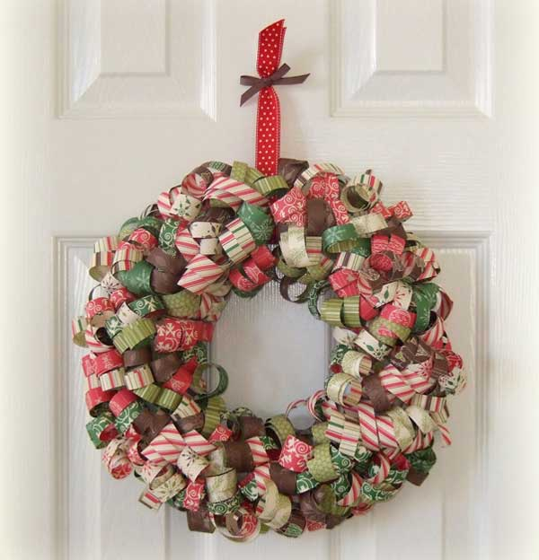 Paper Christmas Wreath Ideas
