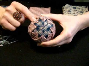 Quilted Christmas Ornament 2015