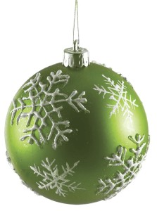 Decoration of Christmas Ornaments