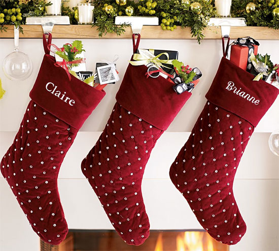 Decorated Christmas Stocking