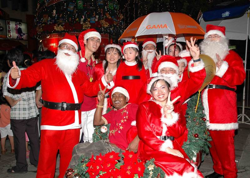 Celebration in USA of Christmas