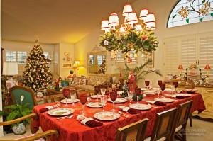Christmas Dinner Room table