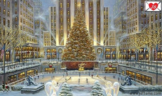 Christmas Celebration with Christmas Tree