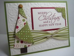 Folded Tree Christmas Card