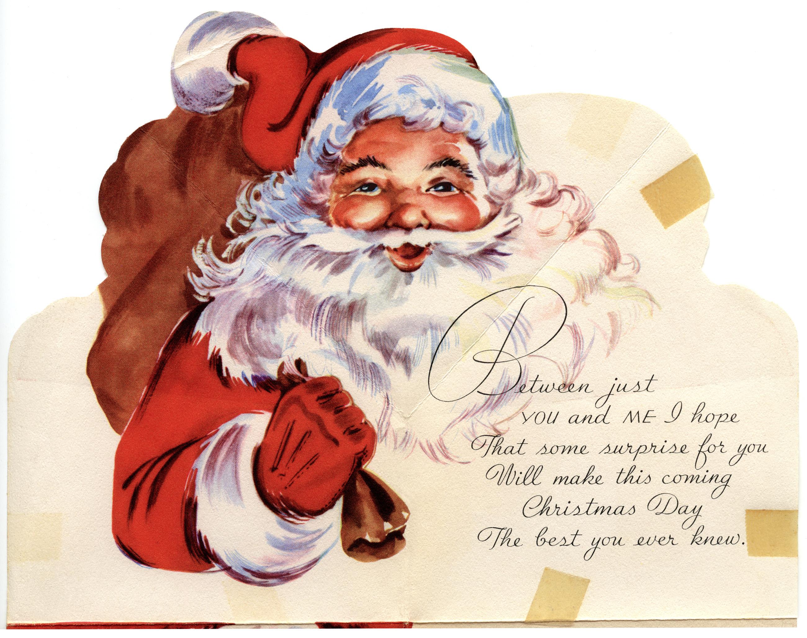Merry Santa Christmas Card Xmasblor