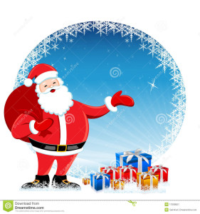 Santa Clause with Gifts