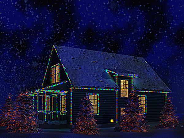 USA Christmas House