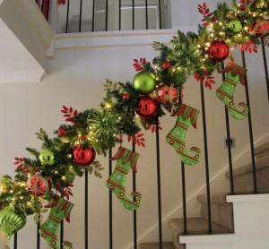 Christmas Staircase Garland