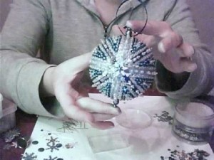 Blue and Silver Christmas Ornament DIY 2015