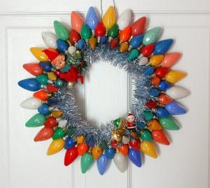 Old Light Bulb Christmas Wreath