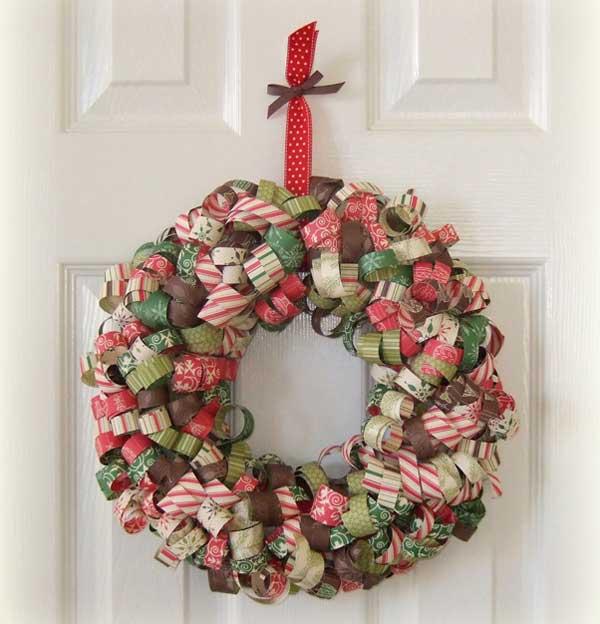 Paper Christmas Wreath Ideas