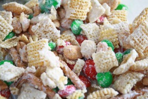 White Christmas Chex Mix